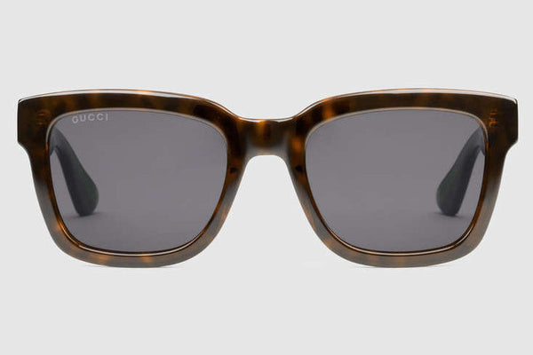 Gucci - GG0001S Havana Sunglasses, Grey Lenses