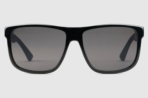 Gucci GG0010S Black Sunglasses, Grey Lenses