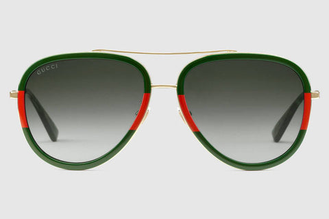 23cba828f9 Gucci - GG0062S Endura Gold Green-Red Sunglasses