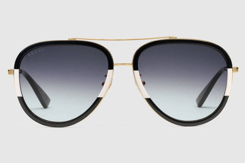 82c64e7056 Gucci - GG0062S Endura Gold Black-Ivory Sunglasses