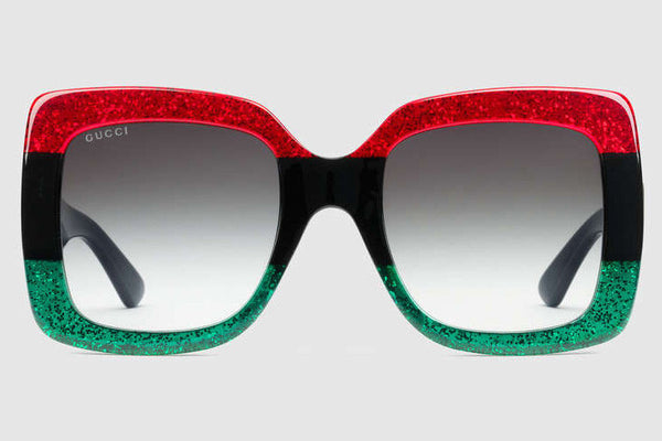 679c0c048c53 Gucci - GG0083S Glitter Red Black Glitter Emerald Sunglasses