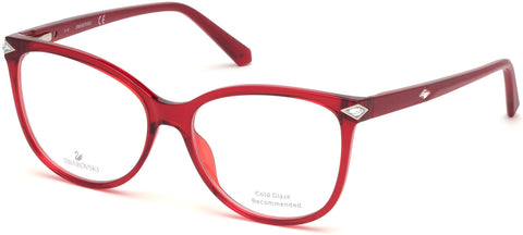 Swarovski - SK5283 Shiny Bordeaux Eyeglasses / Demo Lenses