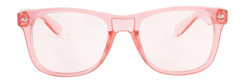RainbowOPTX - Translucent Transparent Sunglasses / Rose Lenses