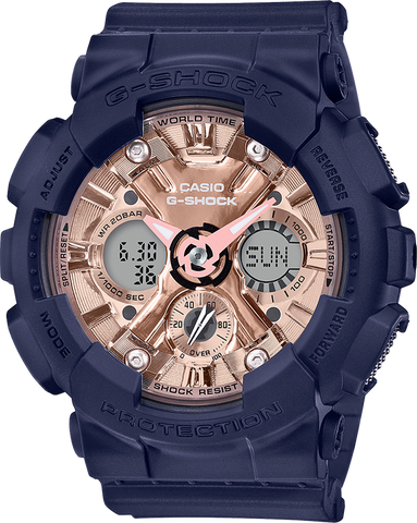 G-Shock - GMAS120MF-2A2 Blue Rose Gold Watch