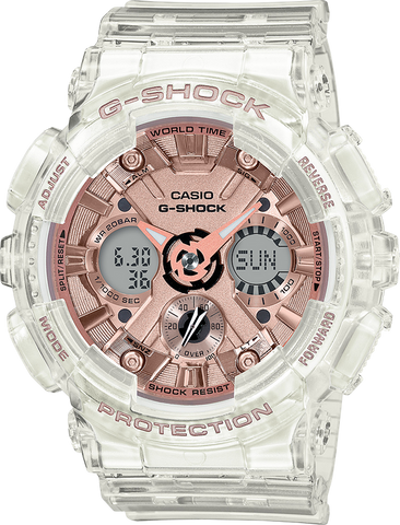 G-Shock - GMAS120SR-7A Transparent Rose Gold Watch
