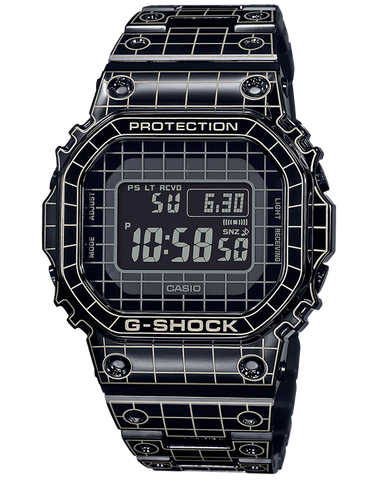 G-Shock - GMWB5000CS-1 Black Grid Tunnel Pattern Watch