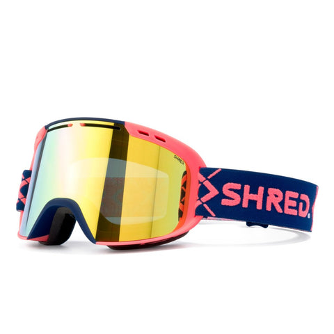 Shred Optics - Amazify Bigshow Navy Rust Snow Goggles / Hero Mirror Lenses