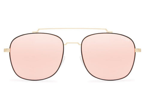 Quay To Be Seen Gold / Pink Sunglasses