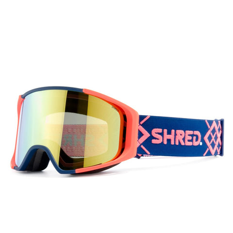 Shred Optics - Simplify Bigshow Navy Rust Snow Goggles / Hero Mirror + Sky Mirror Lenses