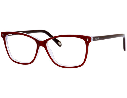 Fossil - 6011  Red Pink Graphic  Eyeglasses / Demo  Lenses