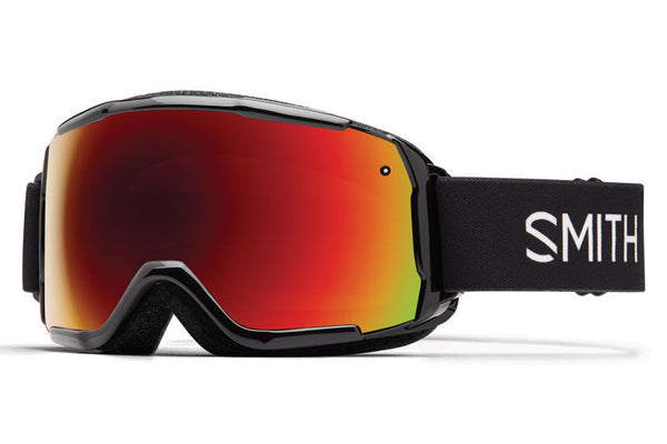Smith - Grom Black Goggles, Red Sol-X Mirror Lenses