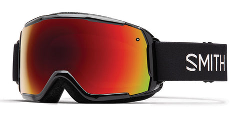Smith - Grom Black Snow Goggles / Red Sol-X Mirror Lenses
