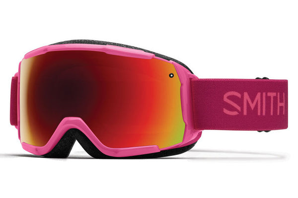 Smith - Grom Fuchsia Static Goggles, Red Sol-X Mirror Lenses