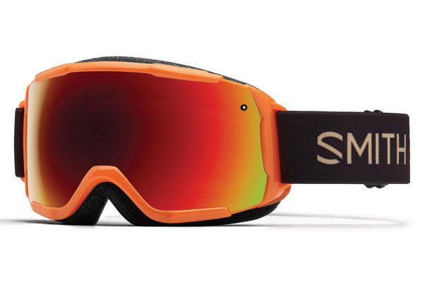 Smith - Grom Neon Orange Sunset Goggles, Red Sol-X Mirror Lenses