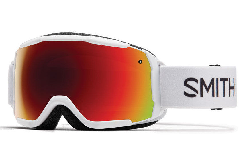 Smith - Grom White Goggles, Red Sol-X Mirror Lenses