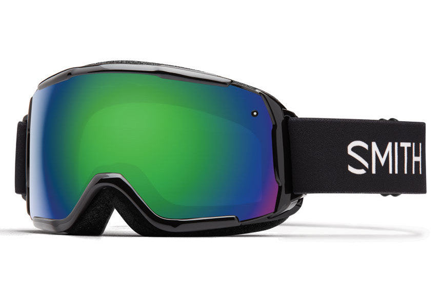 Smith - Grom Black Goggles, Green Sol-X Mirror Lenses