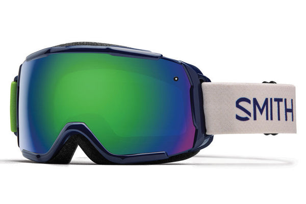 Smith - Grom Midnight Brighton Goggles, Green Sol-X Mirror Lenses