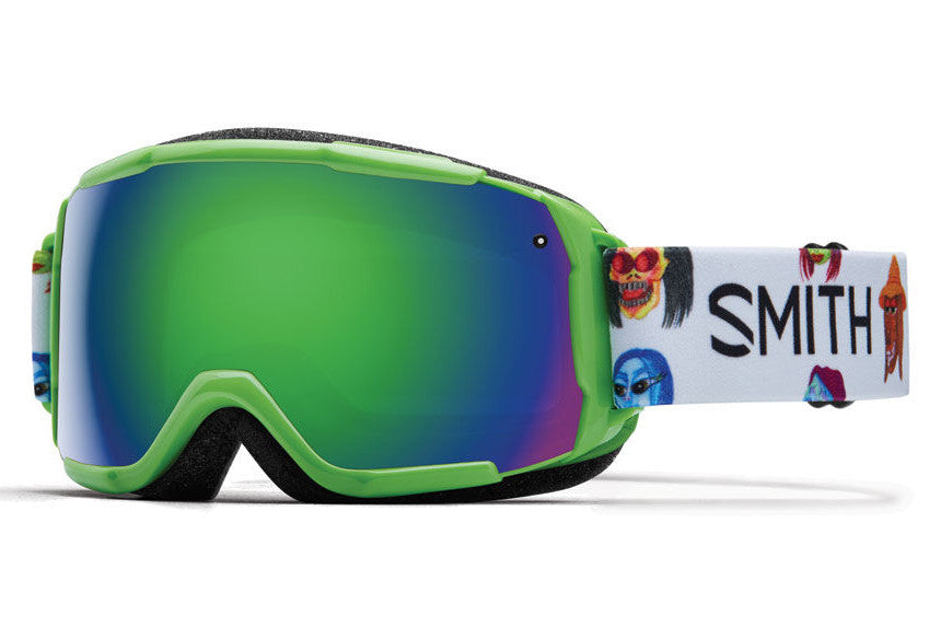 Smith - Grom Reactor Creature Goggles, Green Sol-X Mirror Lenses