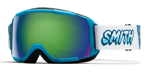 Smith - Grom Cyan Yeti Snow Goggles / Green Mirror Lenses