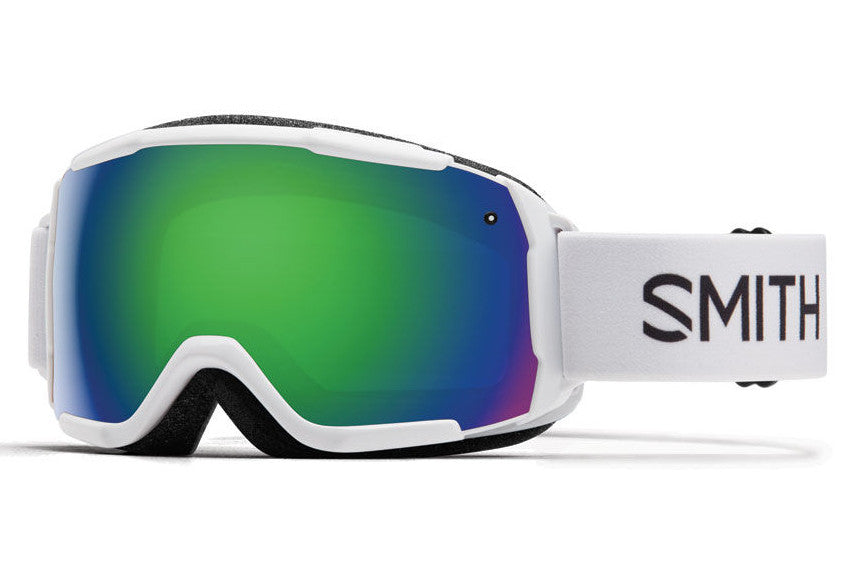 Smith - Grom White Goggles, Green Sol-X Mirror Lenses