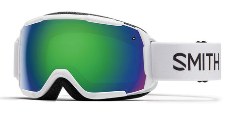 Smith - Grom White Snow Goggles / Green Mirror Lenses