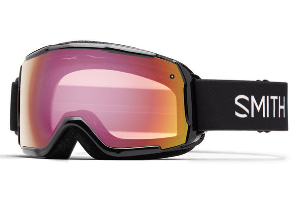 Smith - Grom Black Goggles, Red Sensor Mirror Lenses