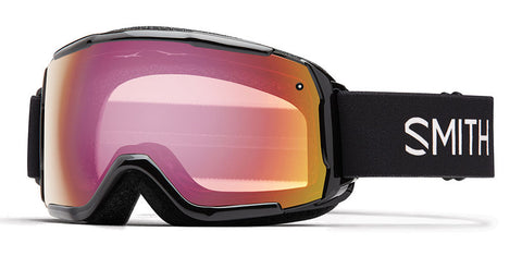 Smith - Grom Black Snow Goggles / Red Sensor Mirror Lenses