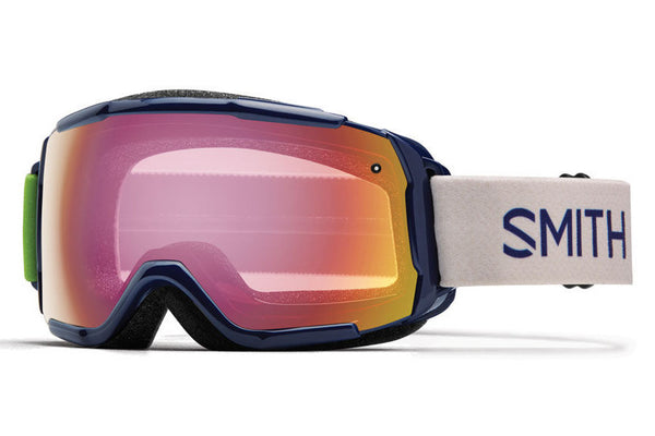 Smith - Grom Midnight Brighton Goggles, Red Sensor Mirror Lenses