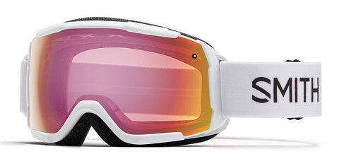 Smith - Grom White Snow Goggles / Red Sensor Mirror Lenses