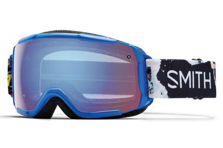 Smith - Grom Lapis Ripped Comic Goggles, Blue Sensor Mirror Lenses