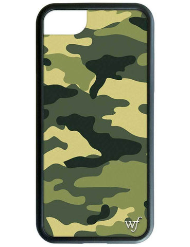 Wildflower - Green Camo iPhone XS/X Case