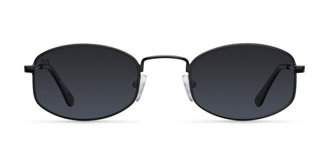 Meller - Suku 34mm All Black Sunglasses / Black Polarized Lenses