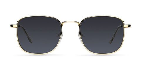 Meller - Lana 45mm Gold Carbon Sunglasses / Black Polarized Lenses