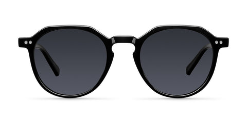 Meller - Chauen 42mm All Black Sunglasses / Black Polarized Lenses