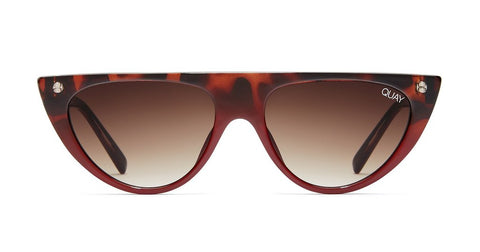 Quay - Run Away Tortoise Red Fade Sunglasses / Brown  Lenses