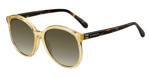 Givenchy - Gv 7107 S  Yellow  Sunglasses / Brown Gradient Lenses