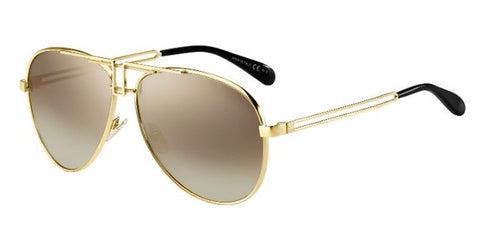 Givenchy - Gv 7110 S  Gold Sunglasses / Brown Mirror Gradient Lenses