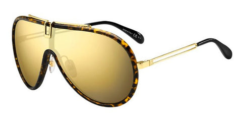 Givenchy - Gv 7111 S  Dark Havana Sunglasses / Brown Gold Lenses
