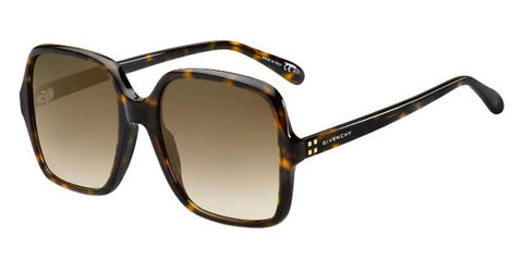 Givenchy - Gv 7123 G S Dark Havana Sunglasses / Brown Gradient Lenses