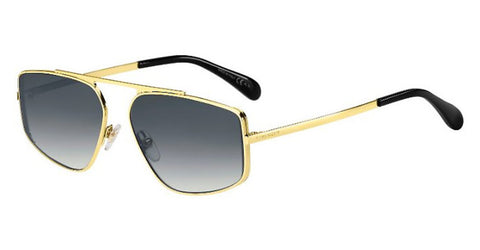 Givenchy - Gv 7127 S  Gold Sunglasses / Dark Gray Gradient Lenses