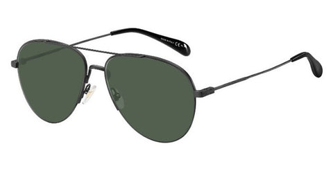 Givenchy - Gv 7133 G S Matte Black Sunglasses / Green Lenses