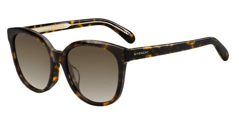 Givenchy - Gv 7134 F S Dark Havana Sunglasses / Brown Gradient Lenses