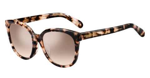 Givenchy - Gv 7134 F S Havana Pink Sunglasses / Brown Mirror Gradient Lenses
