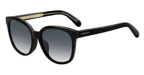Givenchy - Gv 7134 F S  Black  Sunglasses / Dark Gray Gradient Lenses