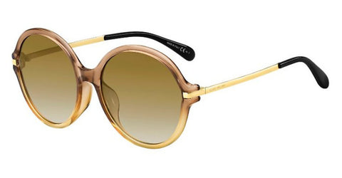 Givenchy - Gv 7135 F S Brown Yellow Sunglasses / Brown Gradient Lenses