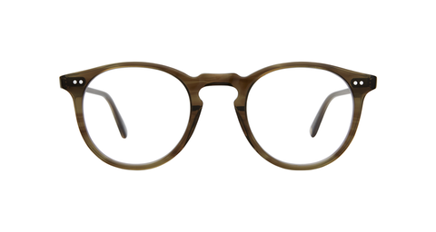 Garrett Leight - Glencoe 44mm Olive Tortoise Eyeglasses / Demo Lenses