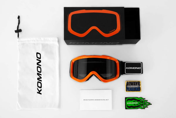 Komono - Anton Orange Revo Snow Goggles / Orange Red Mirror Lenses