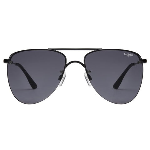 Le Specs - The Prince Matte Black Sunglasses / Smoke Mono Lenses