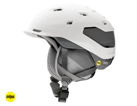 Smith - Quantum MIPS Matte White Charcoal Medium Snow Helmet