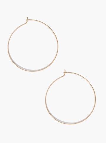 ABLE - Thin Hoop Gold Earrings